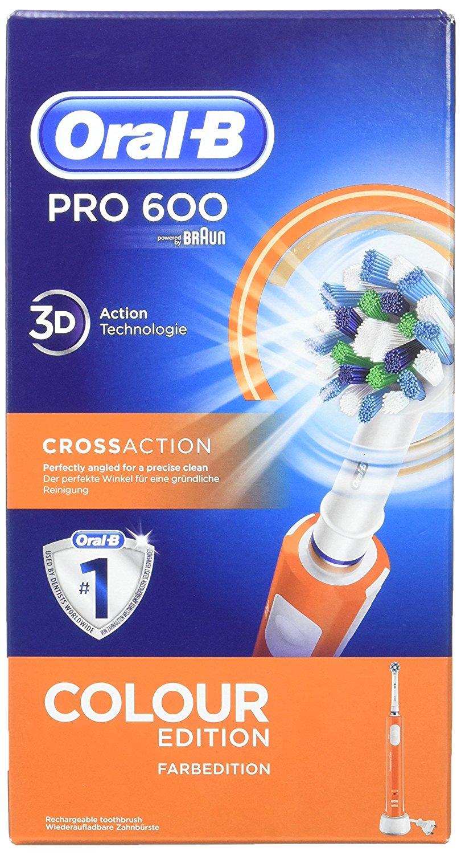 Oral-B PRO 600 CrossAction color naranja - Cepillos de dientes ... 3e279fa5e3ba